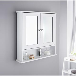 Maine Bathroom Double Door Cabinet & Shelf