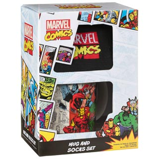 Superhero Mug & Sock Set - Avengers