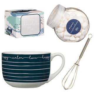Giant Hot Chocolate Mug Set - Blue