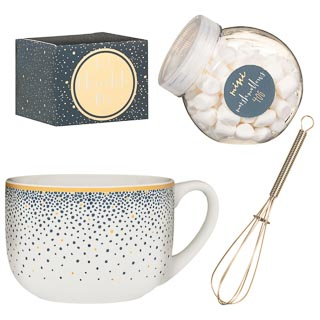 Giant Hot Chocolate Mug Set - Gold