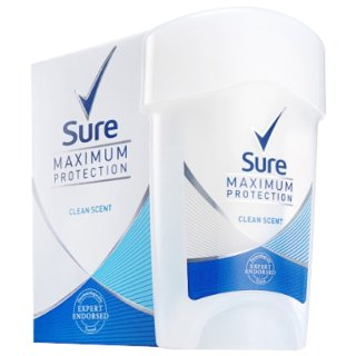 Sure Max Clean Scent Cream Deodorant 45ml