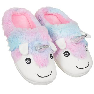 Ladies Unicorn Slippers - Multi Colour