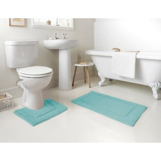 Signature Bath Mat - Aqua
