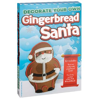 Decorate Your Own Gingerbread Santa Kit
