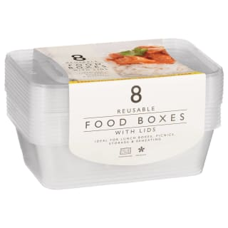 Reusable Food Boxes with Lids 8pk