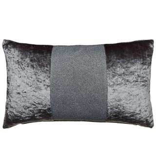 Sparkle Crushed Velvet Cushion - Silver