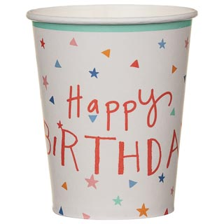 Paper Cups 20pk - Happy Birthday