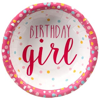 Kids Party Paper Bowls 20pk - Birthday Girl