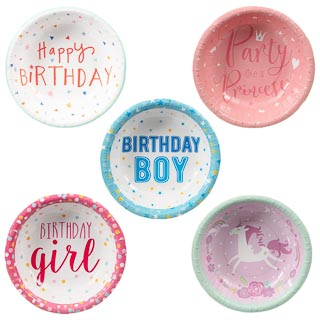 Kids Party Paper Bowls 20pk - Happy Birthday