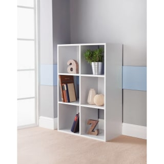 Lokken 6 Cube Shelving Unit - White