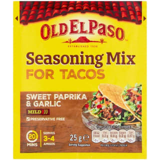 Old El Paso Taco Seasoning Mix Sweet Garlic & Paprika 25g