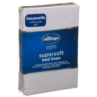 Silentnight Supersoft Housewife Pillowcase Pair - Silver