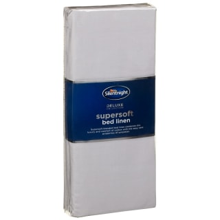 Silentnight Supersoft King Size Fitted Sheet - Silver