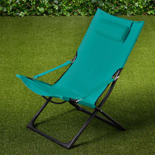 Tropic Garden Relaxer Deck Chair - Green