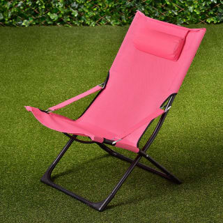 Tropic Garden Relaxer Deck Chair - Pink