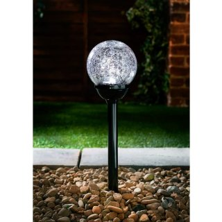 Vegas XL Crackle Ball Post Lights 5pk - Black Nickel