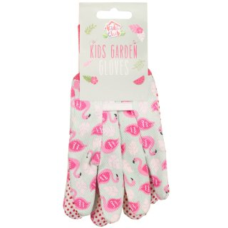 Kids Gardening Gloves - Flamingo