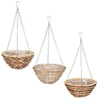 Corn Rope Round Hanging Basket 12""