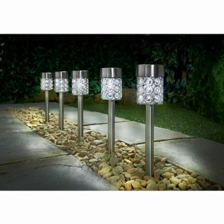 Dallas Solar Light Posts 5pk - White