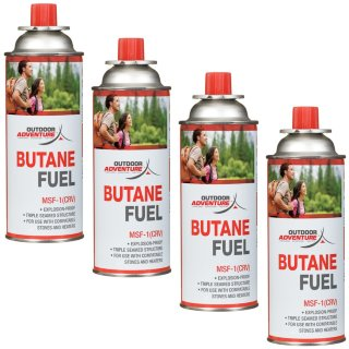 Outdoor Adventure Butane Gas 4pk