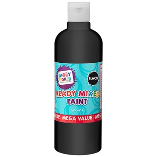 Hobby World Ready Mixed Paint 500ml - Black