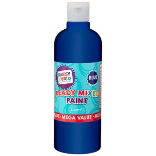 Hobby World Ready Mixed Paint 500ml - Blue