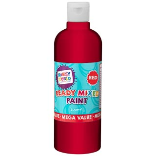 Hobby World Ready Mixed Paint 500ml - Red