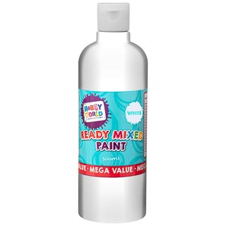 Hobby World Ready Mixed Paint 500ml - White