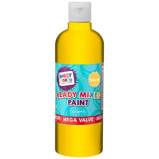 Hobby World Ready Mixed Paint 500ml - Yellow