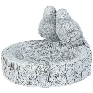 Stone Effect Bird Bath