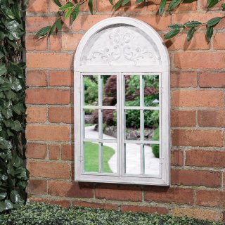 Shutter Door Arched Garden Mirror