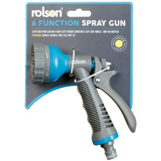 Rolson 6 Function Spray Gun - Blue
