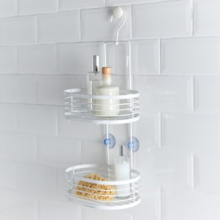 Addis Powder Coated 2 Tier Caddy - White