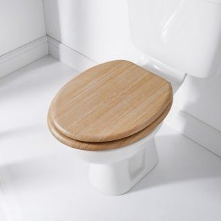 Addis Wood Finish Toilet Seat - Light