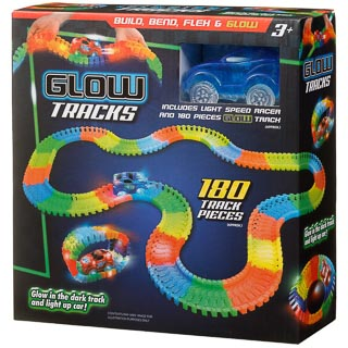 Glow in the Dark Race Track & Light-Up Car