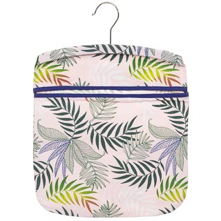 Cotton Printed Peg Bag - Leaves