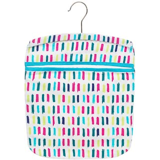 Cotton Printed Peg Bag - Lines
