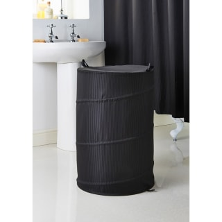Addis Jacquard Pop-Up Laundry Hamper - Black