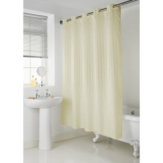 Addis Hookless Shower Curtain - Cream Stripe