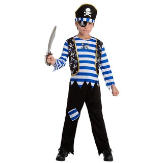 Dress-Up Outfit Age 6-8 - Blue Pirate
