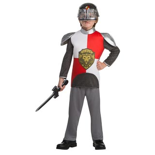 Dress-Up Outfit Age 6-8 - Red Knight
