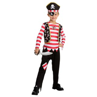Dress-Up Outfit Age 6-8 - Red Pirate