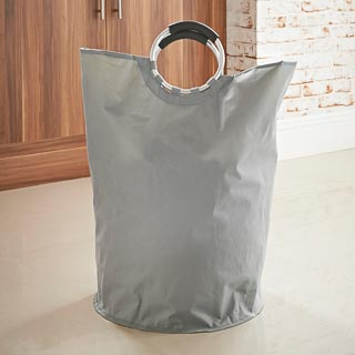 Addis Laundry Bag with Handles - Grey