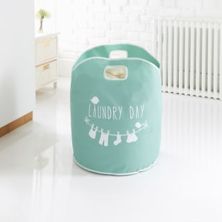 Addis Printed Laundry Bag - Aqua