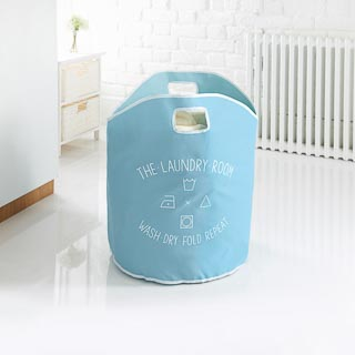 Addis Printed Laundry Bag - Blue
