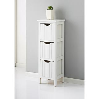 Maine 3 Drawer Chest - White