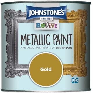 Johnstone's Revive Metallic Paint 375ml - Gold
