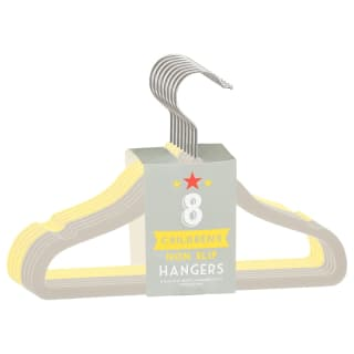 Children's Non-Slip Hangers 8pk - Yellow & Grey