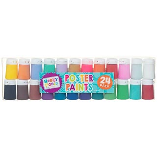 Hobby World Poster Paints 24pk