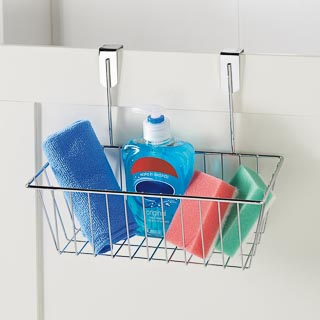Addis Overdoor Storage Basket - Chrome